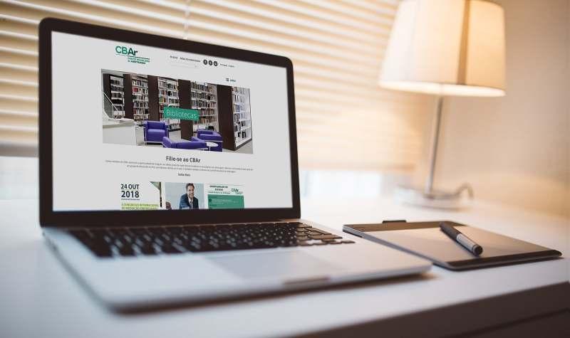 CBAr novo site institucional criado pela agência D2A Digital Agency