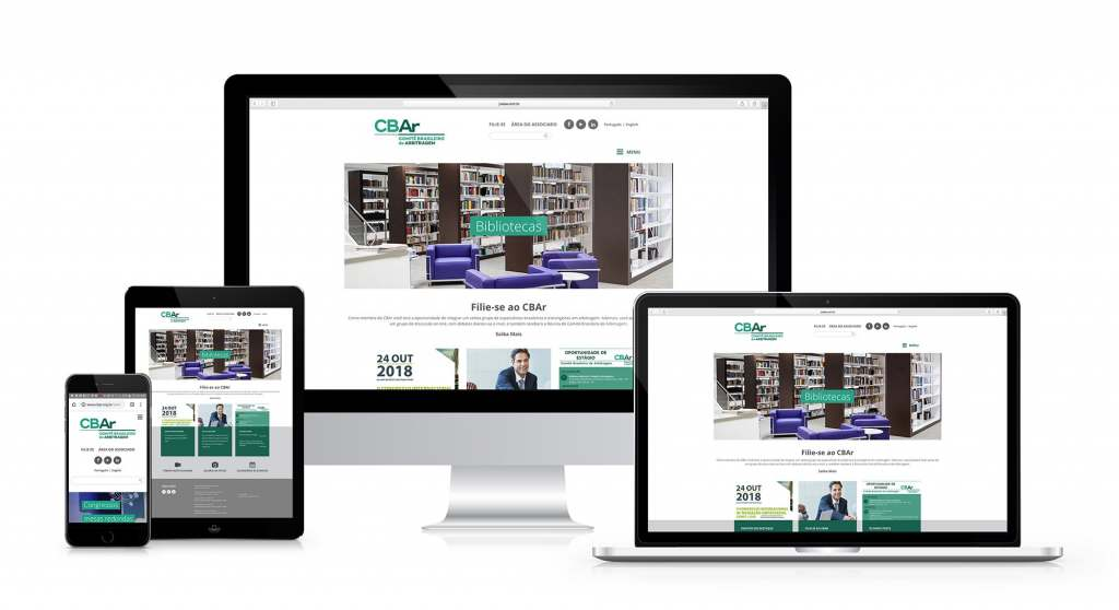 CBAr site responsivo criado pela agência D2A Digital Agency