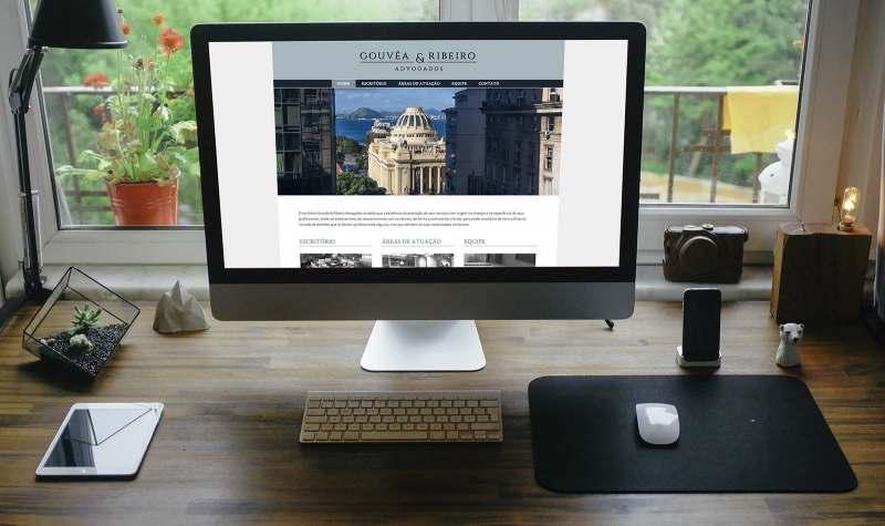 Gouvêa & Ribeiro Advogados. Novo site institucional criado pela agência D2A Digital Agency.