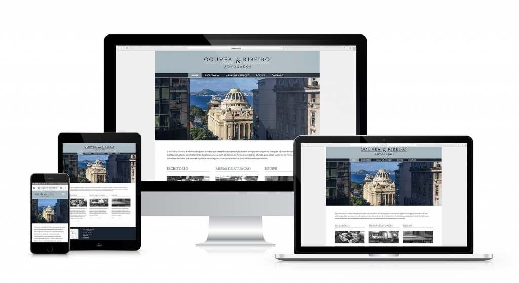 Gouvêa & Ribeiro Advogados. Site responsivo em WordPress criado pela agência D2A Digital Agency.