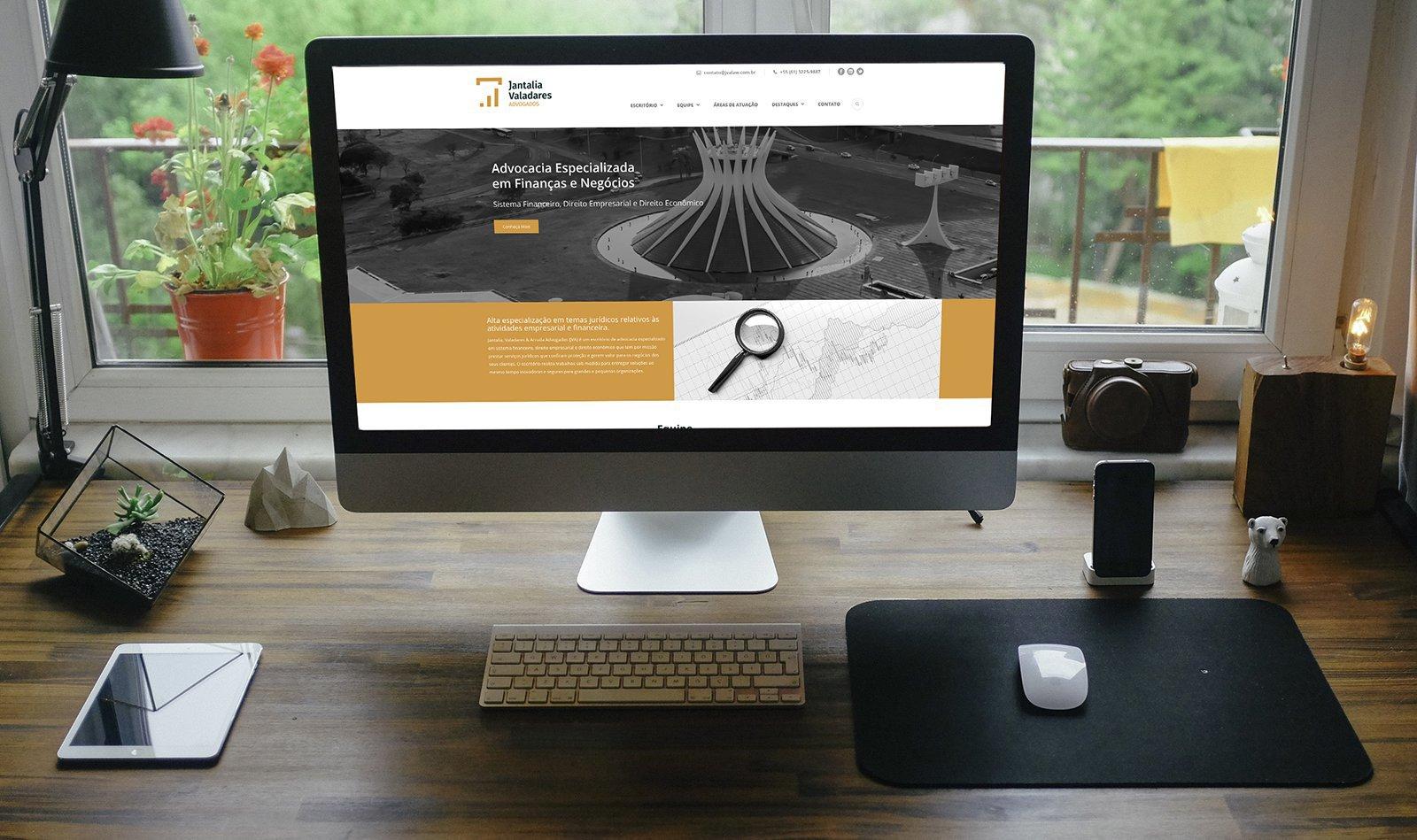 Jantalia & Valadares Advogados. Nova comunicação digital criada pela agência D2A Digital Agency