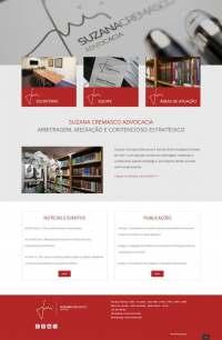 Suzana Cremasco Advocacia Homepage criada pela D2A Markeging Digital